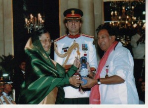 USK with padmabhushan award